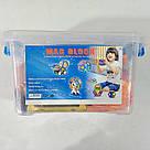 Магнитный конструктор,детский 3Д конструктор,конструктор  магнитный в чемодане 72 деталей, фото 5