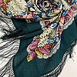 Восходящее солнце 1920-9, павлопосадский платок шерстяной  с шелковой бахромой, фото 7