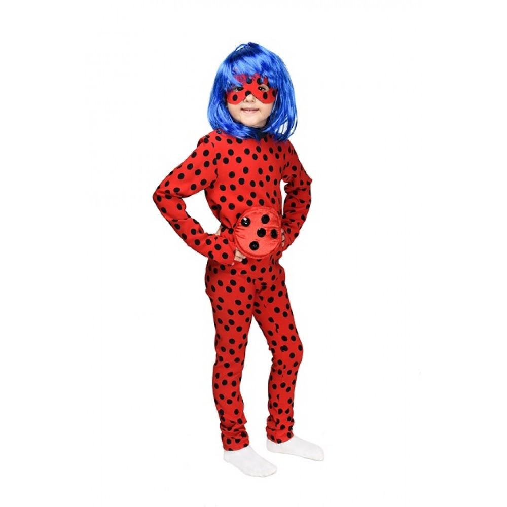 Детский карнавальный костюм Леди Баг с париком для девочки