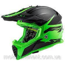 МОТОШЛЕМ КРОСС MX437 FAST EVO ROAR BLACK GREEN XS,S,M,L,XL,XL