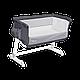 Приставная кроватка Lionelo Theo dark grey, фото 9