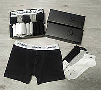 Мужские боксеры трусы Calvin Klein 5 шт + носки 8 пар в подарочных упаковках чоловічі труси