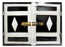 Дверка печная 465*355 мм черн. мет. ГОСПОДАР 92-0360