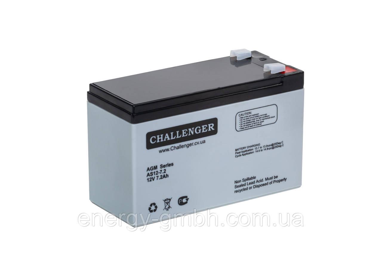 Аккумуляторная батарея Challenger AS 12-7,2 для ИБП(UPS)