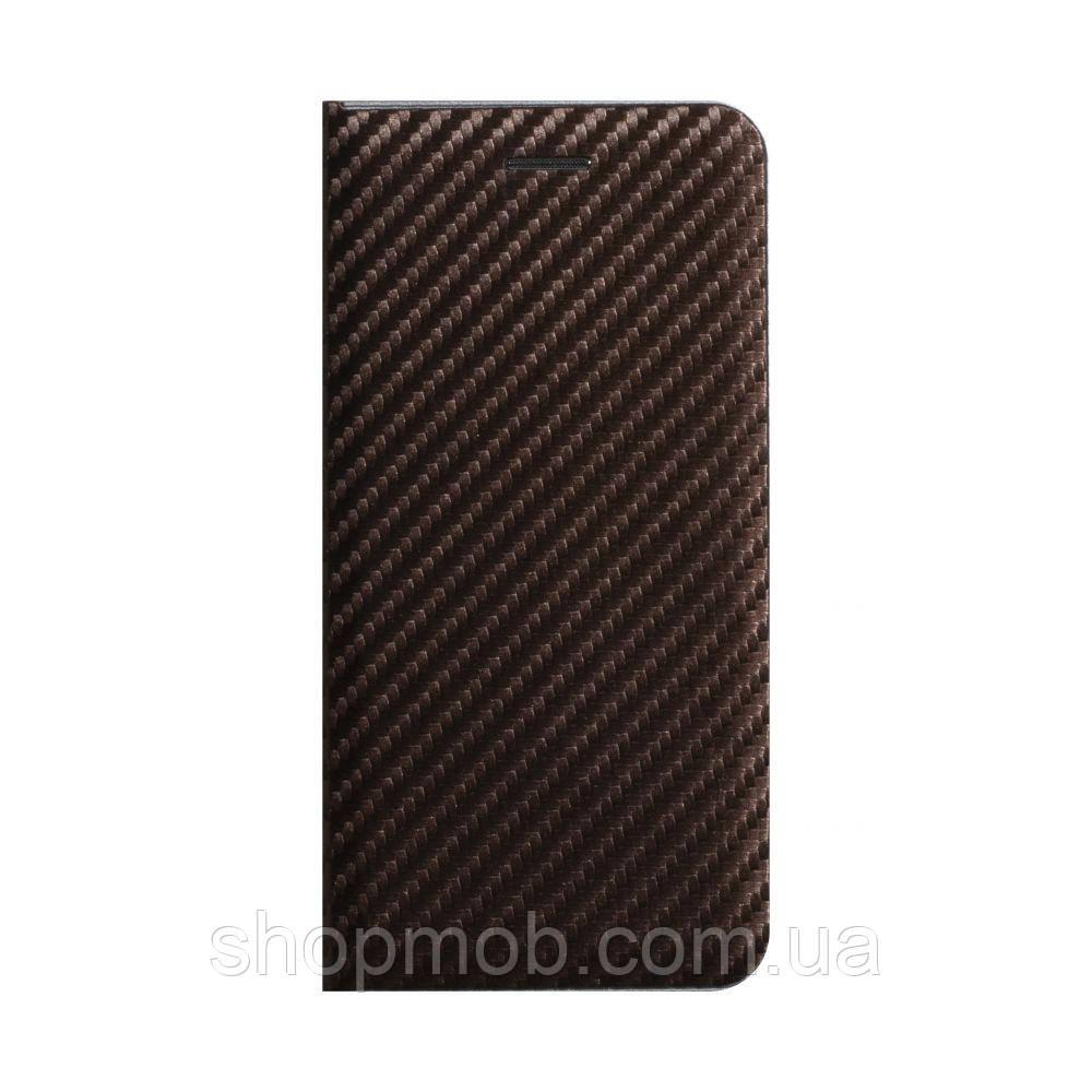 Чохол-книжка Carbon for Xiaomi Mi Note 10 Lite Колір Коричневий