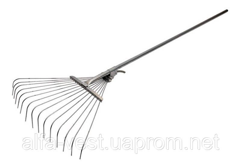 Грабли веерные раздвижные проволочные с ручкой крашеные 500*1450 мм MASTERTOOL 14-6231