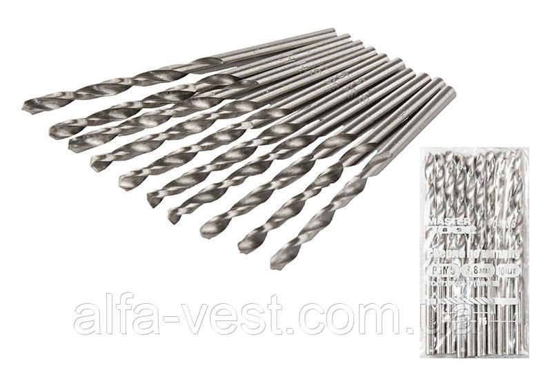 Сверло для металла Р6М5  3,8 мм белое MASTERTOOL 10-1038