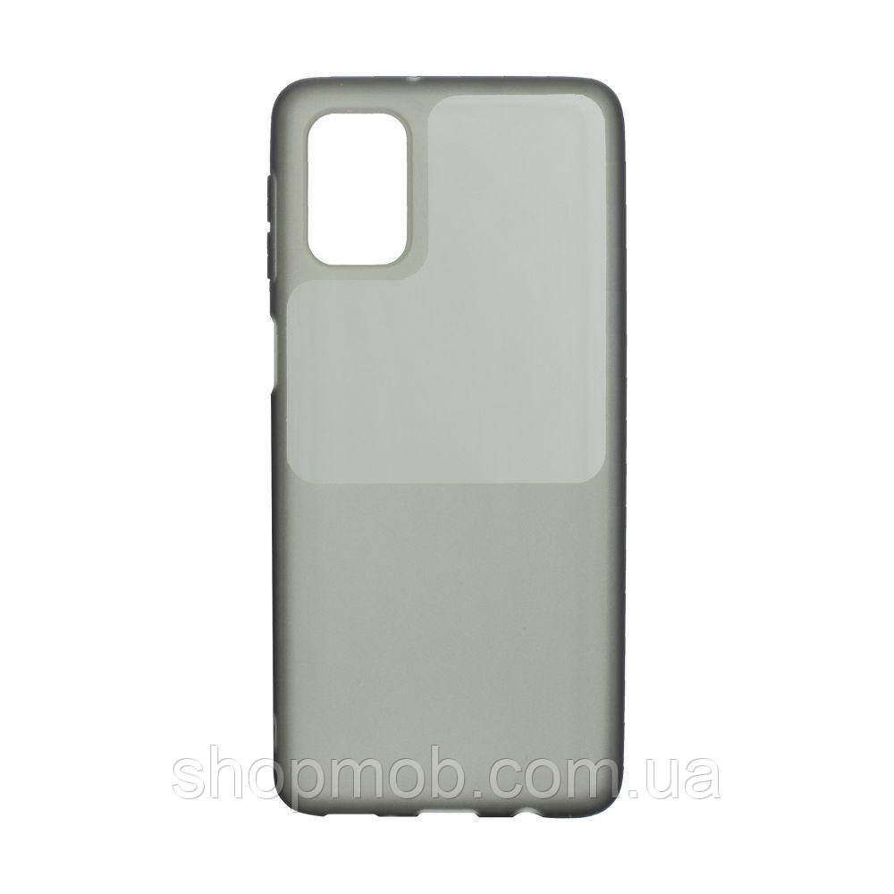 Чохол Bright Silicone for Samsung A51 Колір Чорний