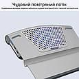 Охлаждающая подставка для ноутбука Promate AirBase-6 Grey, фото 6