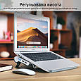 Охлаждающая подставка для ноутбука Promate AirBase-6 Grey, фото 4