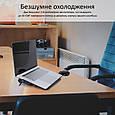 Охлаждающая подставка для ноутбука Promate AirBase-6 Grey, фото 2
