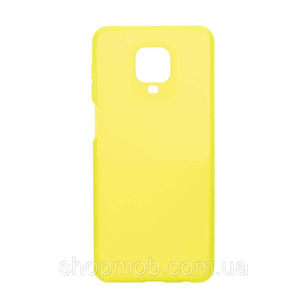 Чехол Bright Silicone for Xiaomi Redmi Note 9s / Pro Цвет Салатовый