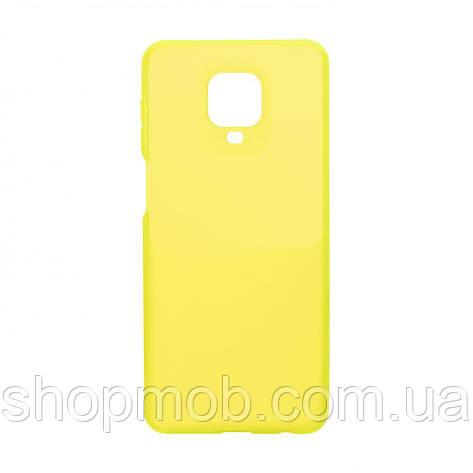 Чехол Bright Silicone for Xiaomi Redmi Note 9s / Pro Цвет Салатовый, фото 2