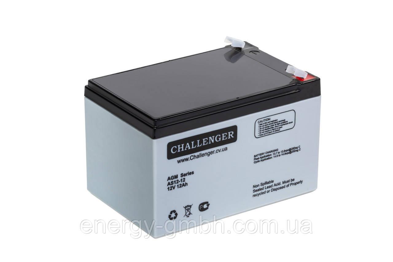 Аккумуляторная батарея Challenger AS 12-12 для ИБП (UPS)
