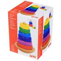 Развивающая игрушка Goki Пирамидка Башня-неваляшка (58925)