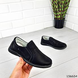 """Туфли детские черные """"Naterio"""" эко кожа. Подростковые туфли. Обувь детская. Мокасины детские"""