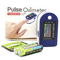 Пульсометр оксиметр напалечный для контроля пульса SpO2P Электронный пульсоксиметр медицинский на палец, фото 1