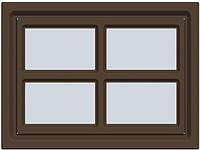 Alutech W041 WH/BR Окно врезное для ворот, декоративное Cross