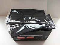 Маски угольные 4-х слойные (50шт) Оптом, фото 1