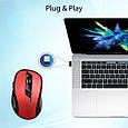 Мышь Promate Clix-7 Wireless Red, фото 5