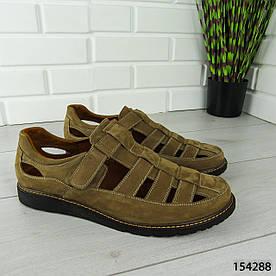 """Туфли мужские, коричневые """"Bergo"""" НАТУРАЛЬНАЯ ЗАМША, мокасины мужские, мужская обувь 1303322724"""