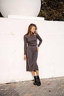 Женственное платье графит, фото 1