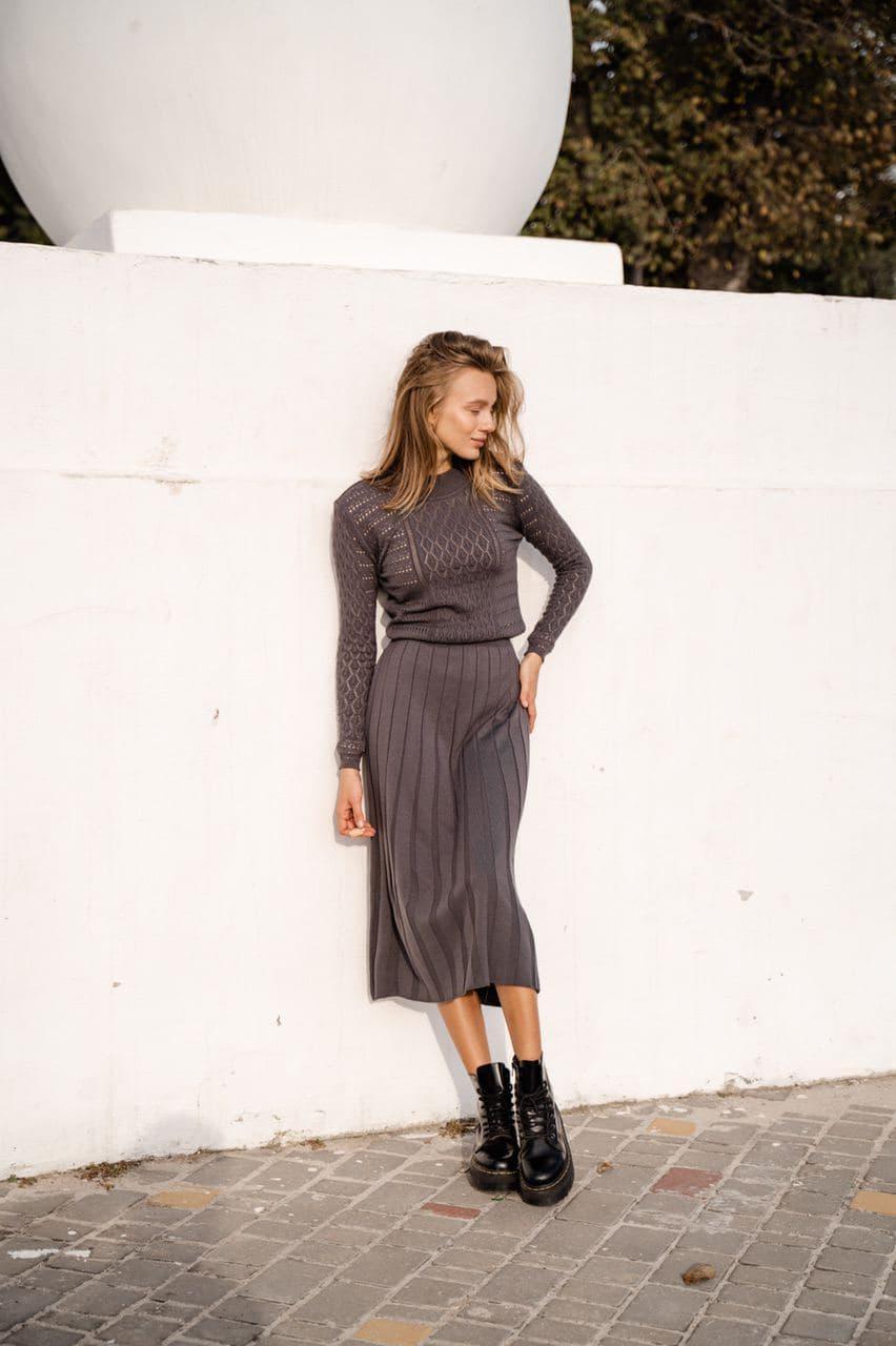 Жіночна сукня графіт