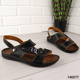 """Босоножки мужские, черные """"Tackerx"""" эко кожа, сандалии мужские, обувь летняя мужская"""