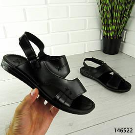 """Босоніжки чоловічі, чорні """"Aters"""" еко шкіра, сандалі чоловічі, взуття річна чоловіча 1303322792"""