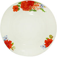 "Тарелка обеденная ""Розовый сад"" керамика (23 см.), фото 1"