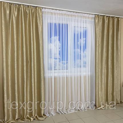 Комплект готовых штор для спальни, детской, зала Блекаут-Софт, фото 2
