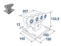 Doorhan DHS20320 Опора роликовая для откатных ворот, 400кг