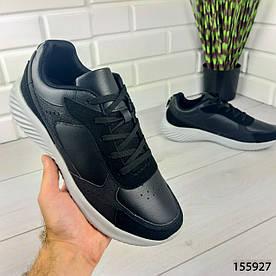 """Кроссовки мужские, черные """"Basko"""" эко кожа, мокасины мужские, кеды мужские, обувь мужская"""