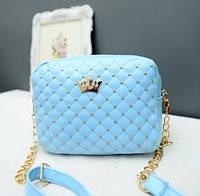 Женская маленькая сумка голубая