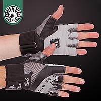 Перчатки атлетические для фитнеса для тяжелой атлетики-пауэрлифтинга VELO Серый (VL-8121) S, фото 1