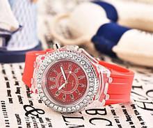 Женские светящиеся часы Красный
