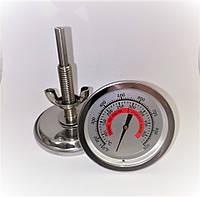 Термометр для барбекю, гриль..., металевий, 70-480 градусів (довга різьба), фото 1