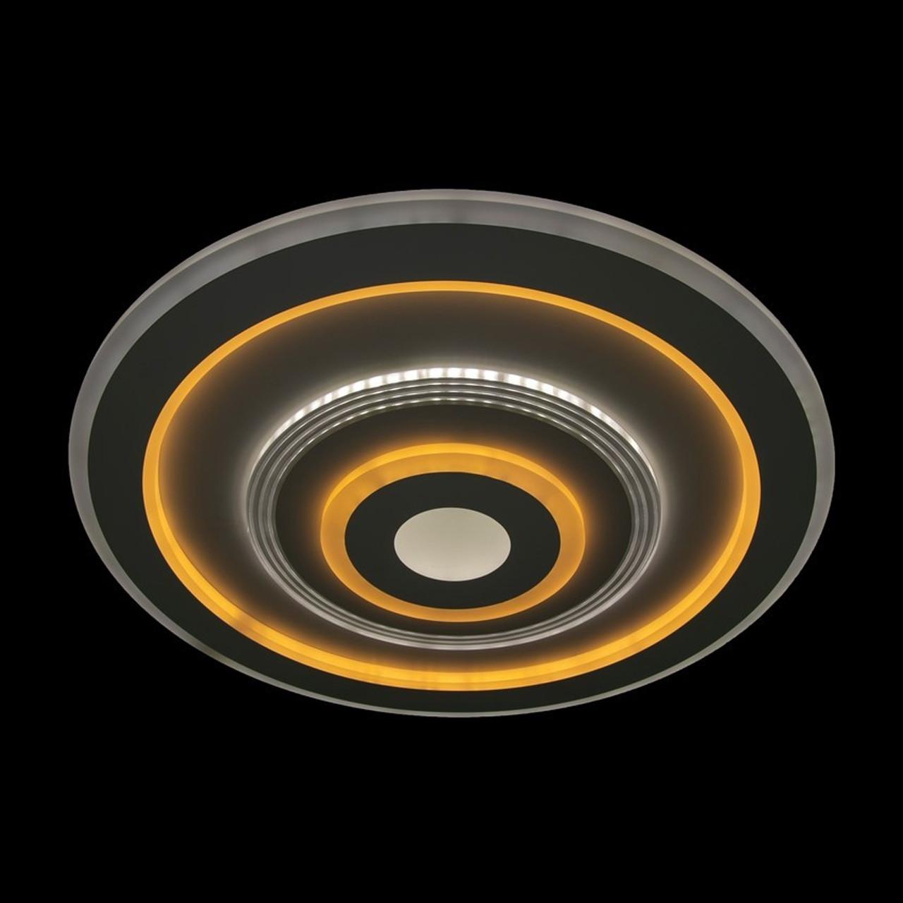 Плоская круглая светодиодная люстра на низкий потолок 105 Вт 50 см с пультом и диммером LS-2344-500 LED