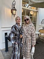 Шикарное демисезонное пальто с модным принтом, фото 1