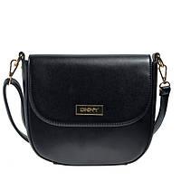 Брендовая женская сумка  Донна Каран черная маленького размера