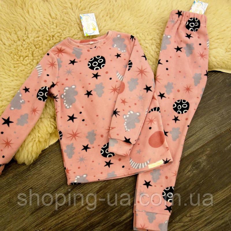 Дитяча флісова піжама зірки на рожевому Five Stars KD0406-110p