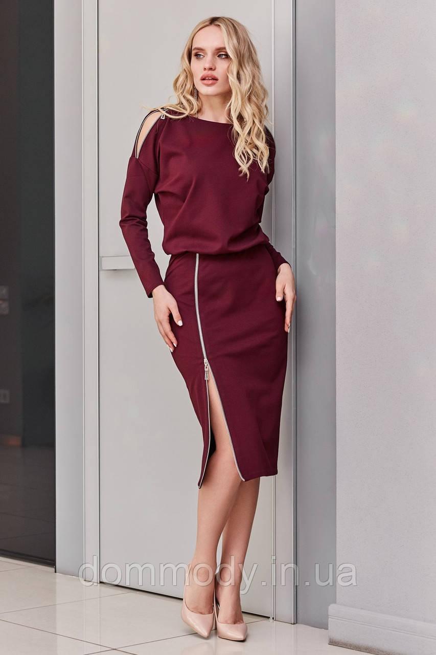 Платье женское Waist marsala