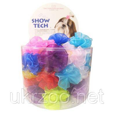 Набор резиночек-цветочков для собак 1уп.(50 шт), разноцветные