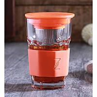 Стакан заварник для чая Zest 415 мл 1083818 - оранжевый