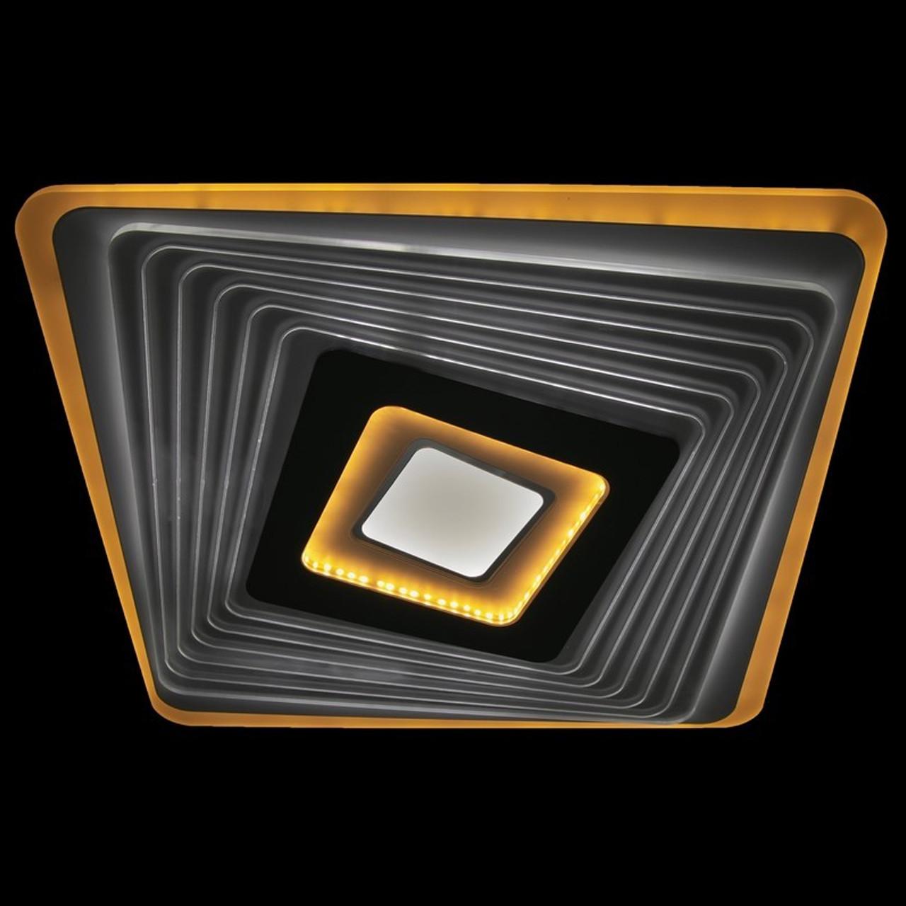Современная светодиодная LED люстра 75 Вт 50 см с пультом на 3 режима света и диммером LS-2316 WH-GR