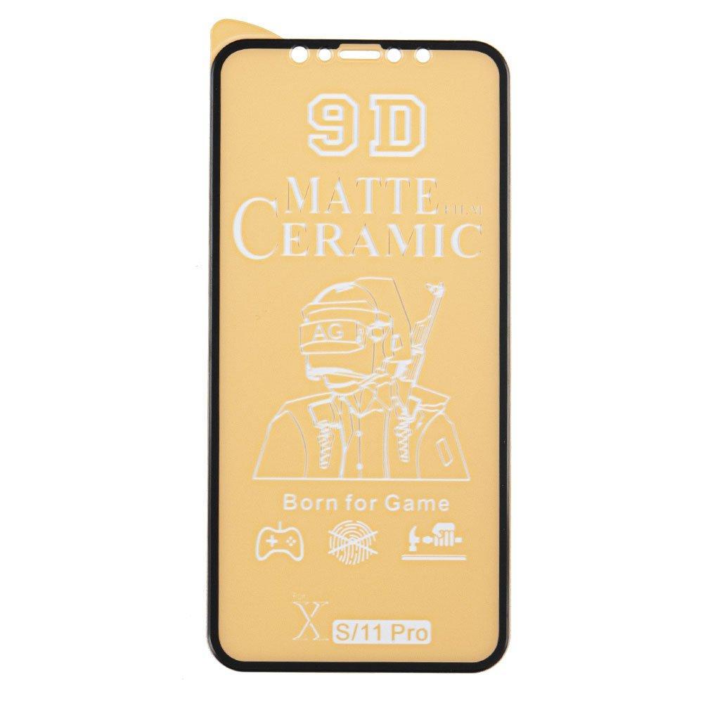 Защитное стекло 9D Ceramics Matte для iPhone Xr, 11 матовое