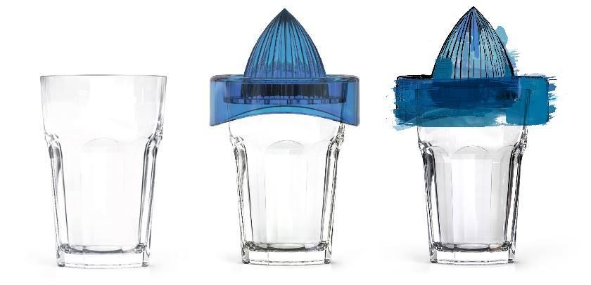 Ручная соковыжималка стакан Zest 1083821 - 415мл
