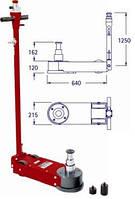 Домкрат пневмогидравлический для грузовых автомобилей Pasquin P103 низкоподкатной, фото 1