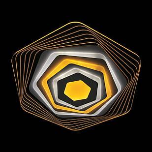 Современная светодиодная LED люстра с прозрачным акрилом 75 Вт 50 см с пультом и диммером LS-2338 WH