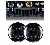 Cветодиодная LED фара 70Вт Нива, УАЗ 469, ВАЗ 2101, 2121, FJ Cruiser, мотоцикл, мото 7 дюйм